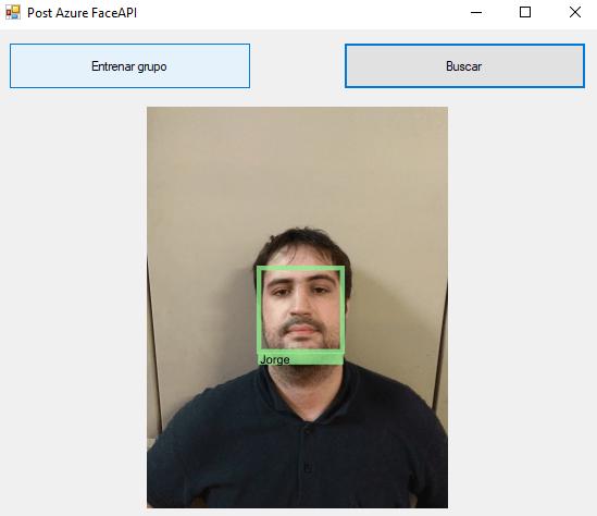 resultado de Azure FaceAPI