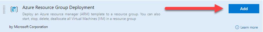 La imagen muestra el recurso Azure Resurce Group Deployment