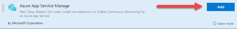 La imagen muestra el recurso Azure App Service Manage