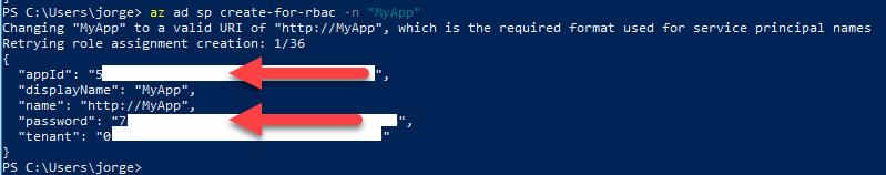 La imagen muestra los datos de ID_Aplicacion y Password_Aplicacion