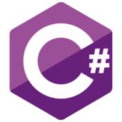 La imagen muestra el logo de C#