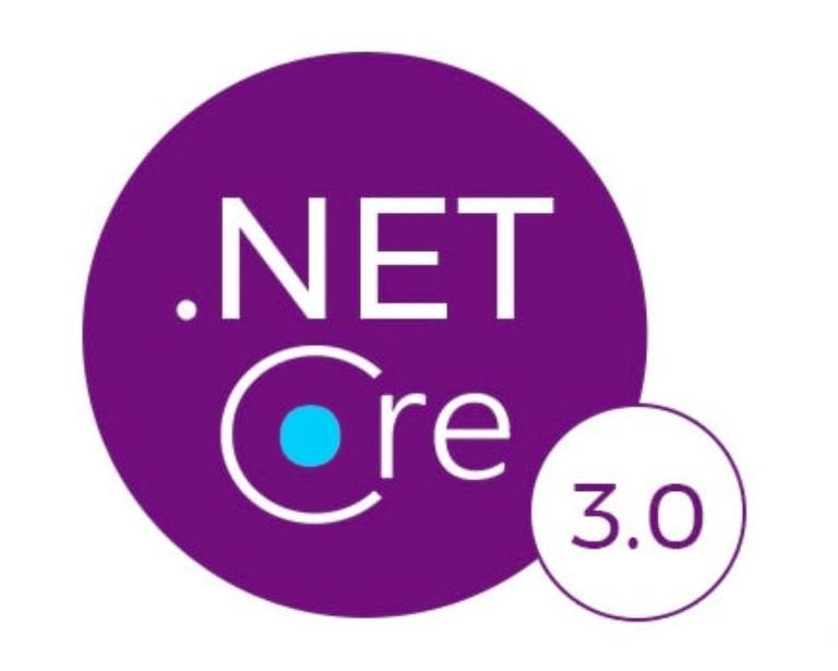 La imagen muestra el logo de .Net Core 3.0